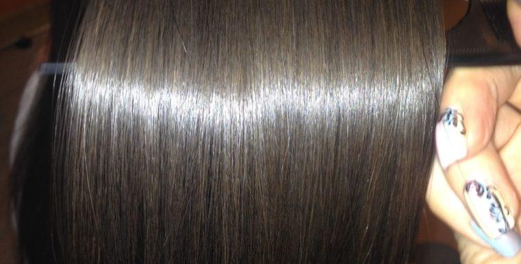 Био-протеиновое выпрямление волос.